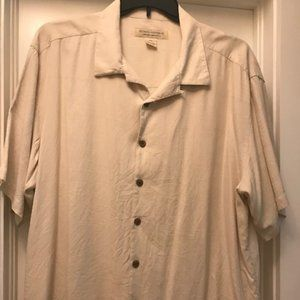 Short Sleeve casual button down with left pocket